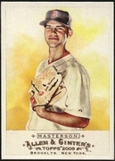 2009 Topps Allen and Ginter Justin Masterson Baseball Card