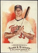 2009 Topps Allen and Ginter Justin Morneau Baseball Card