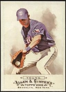 2009 Topps Allen and Ginter Michael Young Baseball Card