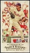 2009 Topps Allen and Ginter Mini A and G Back Cole Hamels Baseball Card