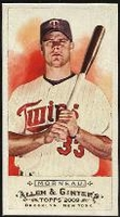 2009 Topps Allen and Ginter Mini A and G Back Justin Morneau Baseball Card