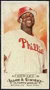 2009 Topps Allen and Ginter Mini A and G Back Ryan Howard Baseball Card