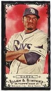 2009 Topps Allen and Ginter Mini Black Matt Garza Baseball Card
