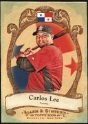 2009 Topps Allen and Ginter National Pride Carlos Lee Baseball Card