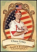 2009 Topps Allen and Ginter National Pride Chase Utley Baseball Card