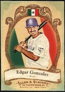 2009 Topps Allen and Ginter National Pride Edgar Gonzalez Baseball Card
