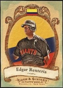 2009 Topps Allen and Ginter National Pride Edgar Renteria Baseball Card