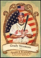 2009 Topps Allen and Ginter National Pride Grady Sizemore Baseball Card