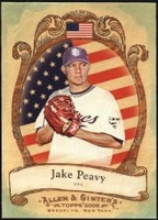 2009 Topps Allen and Ginter National Pride Jake Peavy Baseball Card