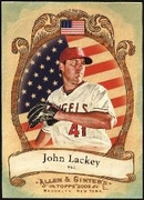 2009 Topps Allen and Ginter National Pride John Lackey Baseball Card