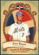 2009 Topps Allen and Ginter National Pride Jose Reyes Baseball Card