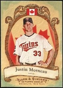 2009 Topps Allen and Ginter National Pride Justin Morneau Baseball Card