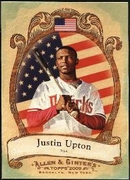 2009 Topps Allen and Ginter National Pride Justin Upton Baseball Card