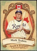 2009 Topps Allen and Ginter National Pride Mark Teahen Baseball Card