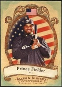 2009 Topps Allen and Ginter National Pride Prince Fielder Baseball Card