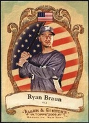 2009 Topps Allen and Ginter National Pride Ryan Braun Baseball Card