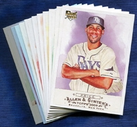 2009 Topps Allen and Ginter Tampa Bay Rays Baseball Card Team Set