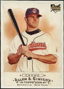2009 Topps Allen and Ginter Trevor Crowe Rookie Baseball Card