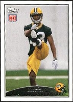 2009 Topps Brandon Underwood Rookie NFL Football Card