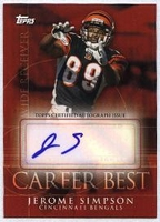 2009 Topps Career Best Autographs Jerome Simpson Autographed NFL Football Card