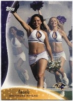 2009 Topps Cheerleaders Amanda Baltimore Ravens Card