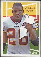2009 Topps Chicle Clinton Portis NFL Football Card