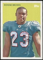 2009 Topps Chicle Ronnie Brown NFL Football Card