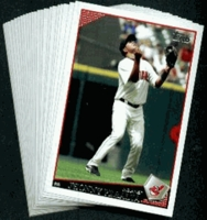 2009 Topps Cleveland Indians Baseball Cards Team Set