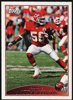 2009 Topps Derrick Johnson NFL Football Card