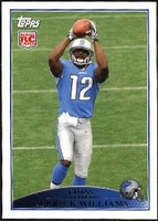 2009 Topps Derrick Williams Rookie NFL Football Card