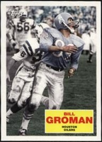 2009 Topps Flashback Bill Groman Football Card