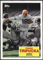 2009 Topps Flashback Frank Tripucka NFL Football Card