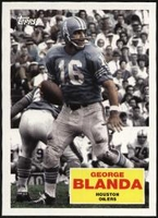 2009 Topps Flashback George Blanda NFL Football Card