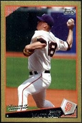 2009 Topps Gold Border Matt Cain Baseball Card