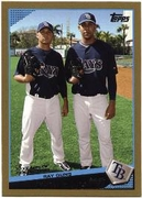 2009 Topps Gold Border Scott Kazmir & David Price Classic Combos Baseball Card