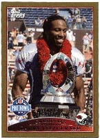 2009 Topps Gold Larry Fitzgerald Pro Bowl NFL Football Card