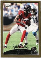 2009 Topps Gold Michael Jenkins NFL Football Card