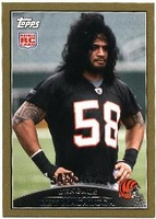 2009 Topps Gold Rey Maualuga NFL Football Card
