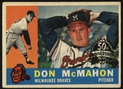 2009 Topps Heritage 1960 Buybacks Don McMahon Baseball Card
