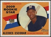 2009 Topps Heritage Alcides Escobar Rookie Baseball Card