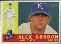 2009 Topps Heritage Alex Gordon Baseball Card