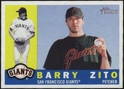 2009 Topps Heritage Barry Zito Baseball Card