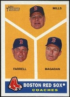 2009 Topps Heritage Boston Red Sox Coaches Baseball Card