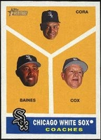 2009 Topps Heritage Chicago White Sox Coaches Baseball Card