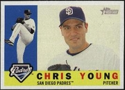 2009 Topps Heritage Chris Young Padres Baseball Card