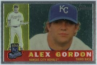 2009 Topps Heritage Chrome Alex Gordon Baseball Card