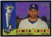2009 Topps Heritage Chrome Refractors Black James Loney Baseball Card