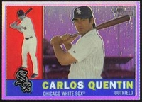 2009 Topps Heritage Chrome Refractors Carlos Quentin Baseball Card