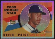 2009 Topps Heritage Chrome Refractors David Price Baseball Card