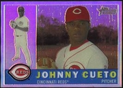 2009 Topps Heritage Chrome Refractors Johnny Cueto Baseball Card